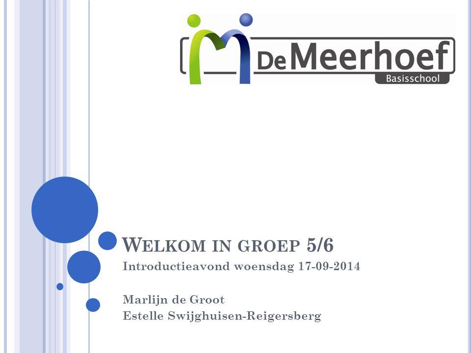 Welkom in groep 5/6 Introductieavond woensdag 17-09-2014