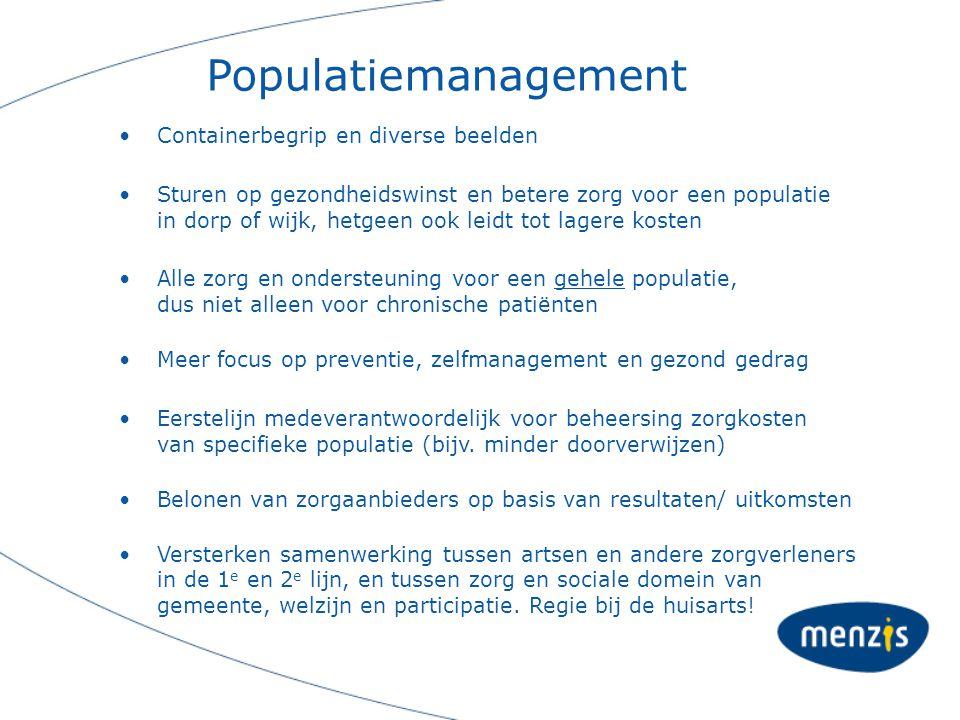 Populatiemanagement Containerbegrip en diverse beelden
