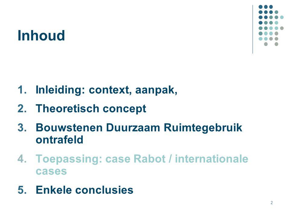 Inhoud Inleiding: context, aanpak, Theoretisch concept