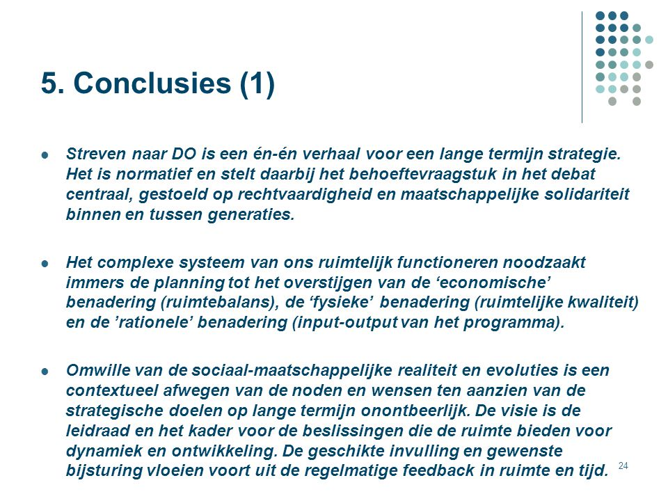 5. Conclusies (1)