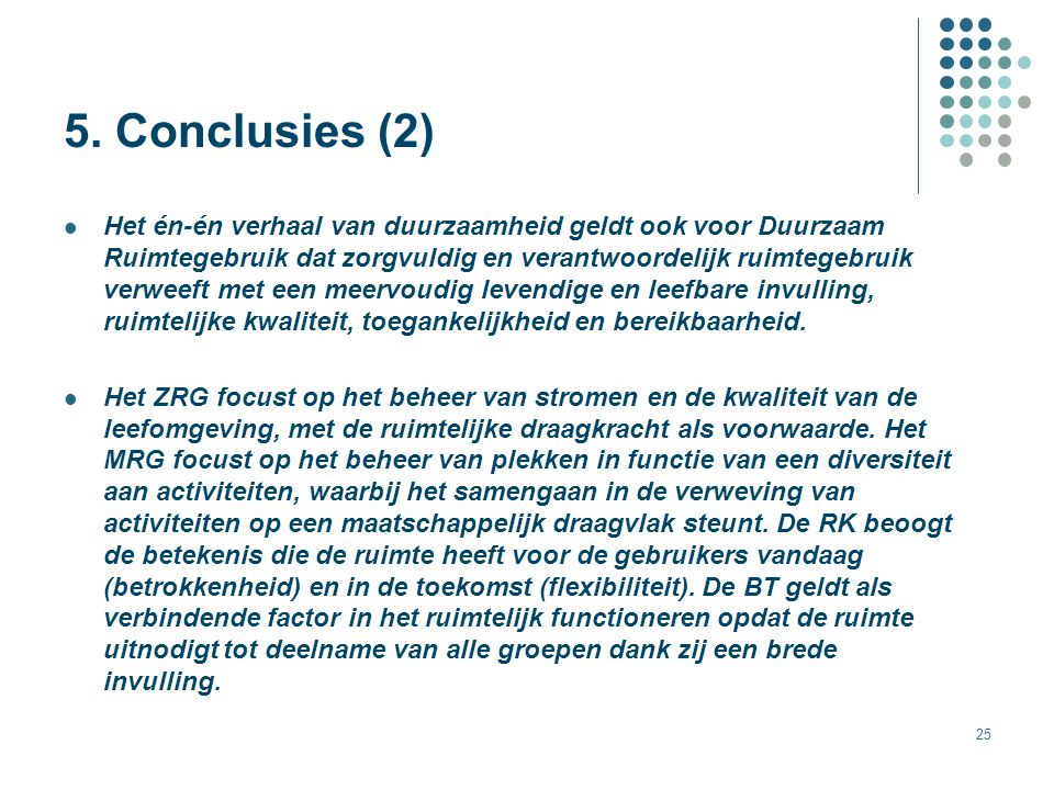 5. Conclusies (2)