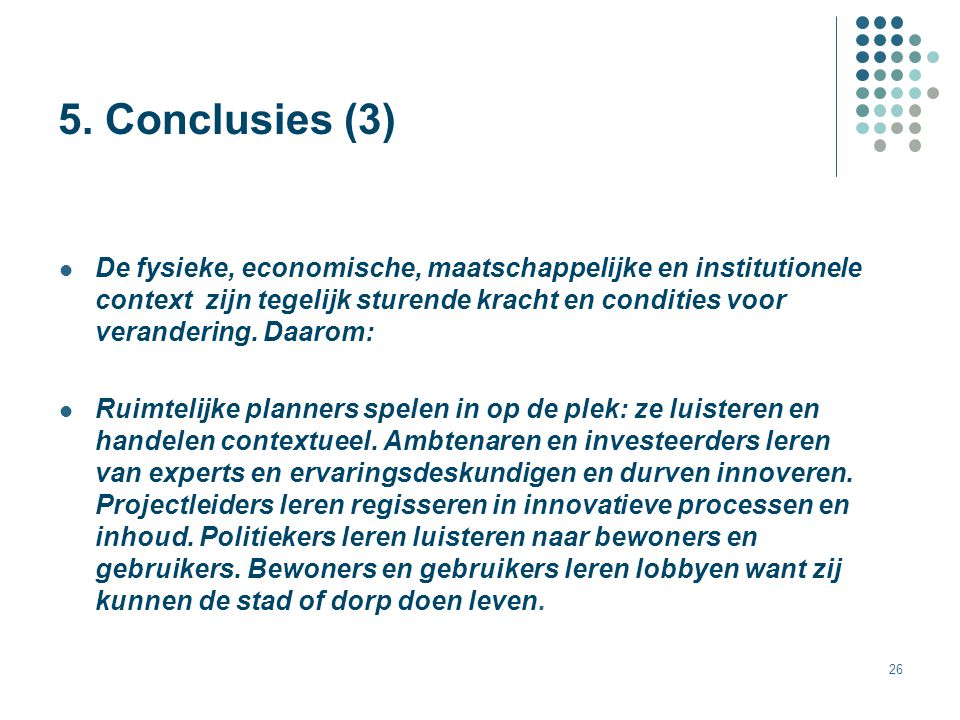 5. Conclusies (3)