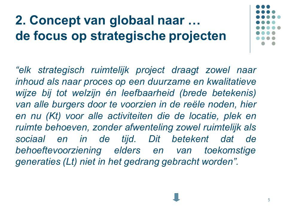 2. Concept van globaal naar … de focus op strategische projecten
