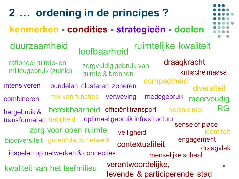 2. … ordening in de principes