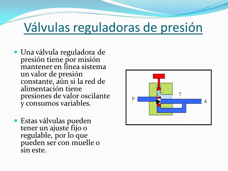 Válvulas reguladoras de presión