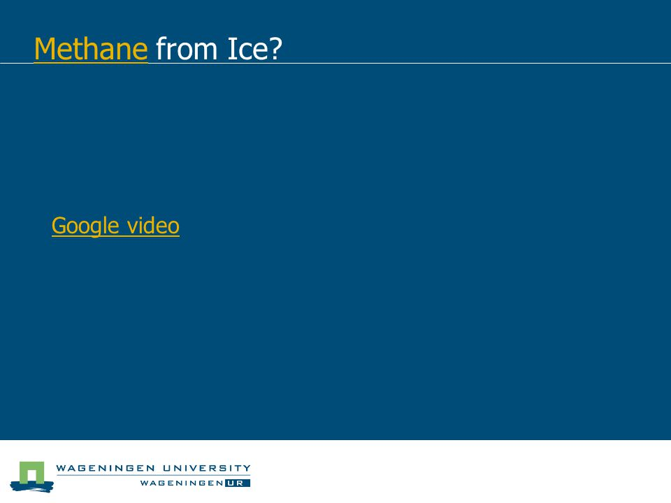 Methane from Ice Google video