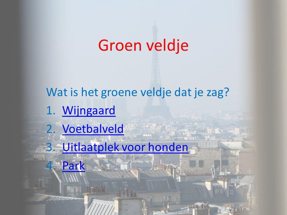 Groen veldje Wat is het groene veldje dat je zag Wijngaard