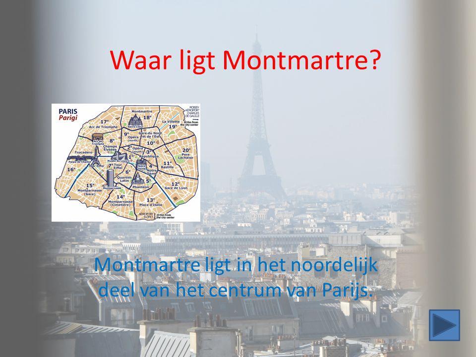 Montmartre ligt in het noordelijk deel van het centrum van Parijs.