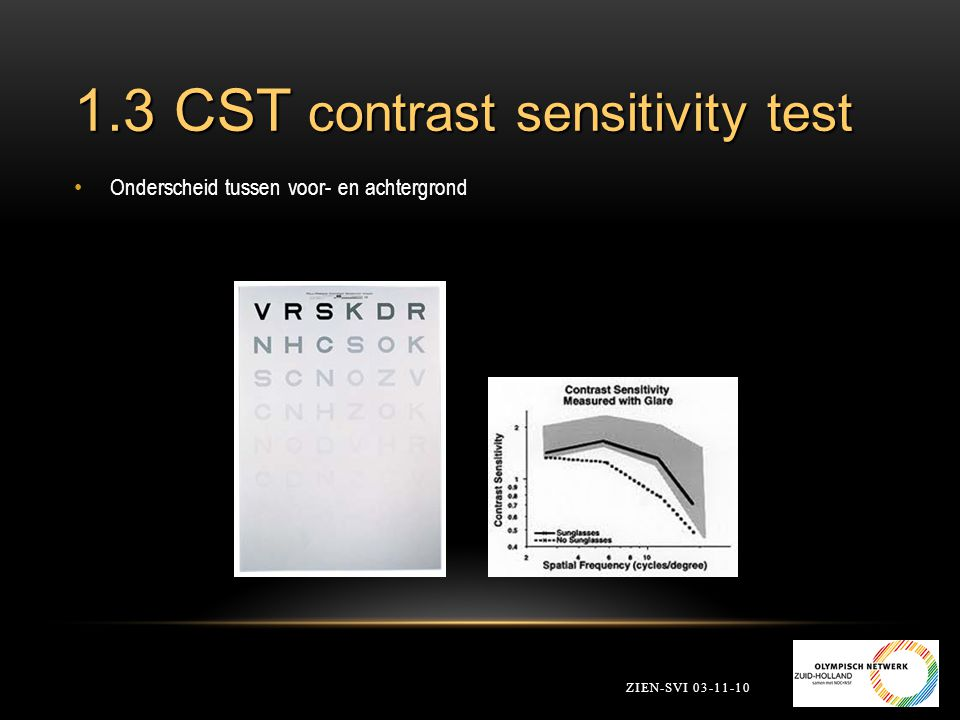1.3 CST contrast sensitivity test