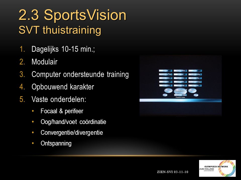 2.3 SportsVision SVT thuistraining