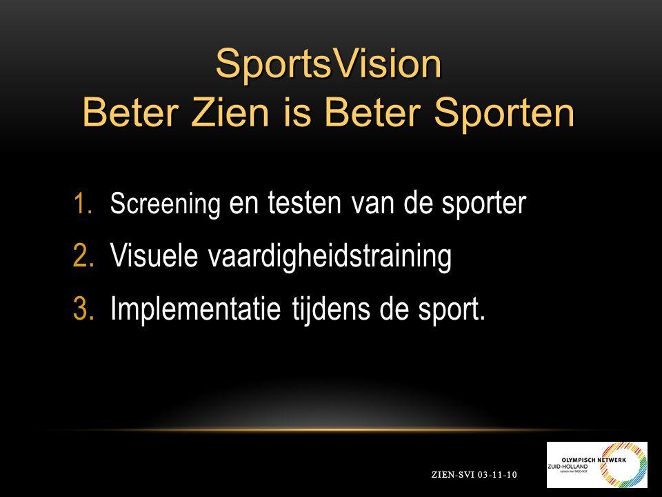 SportsVision Beter Zien is Beter Sporten