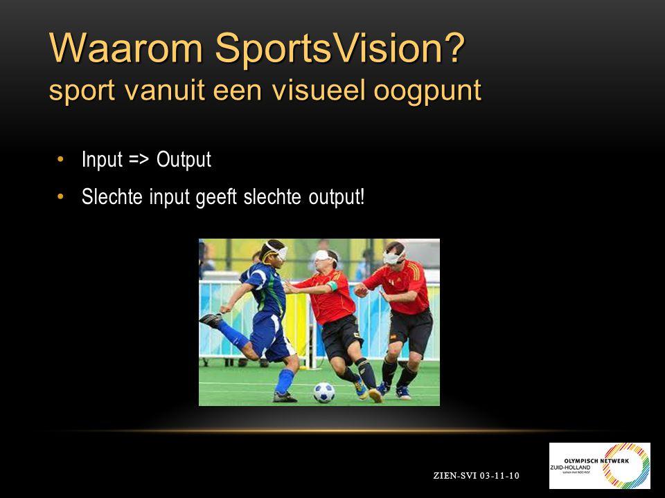 Waarom SportsVision sport vanuit een visueel oogpunt