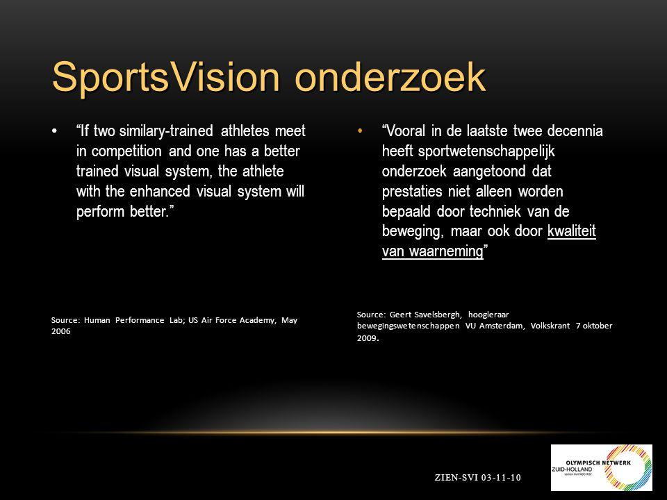SportsVision onderzoek