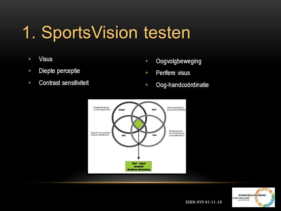 1. SportsVision testen Visus Oogvolgbeweging Diepte perceptie