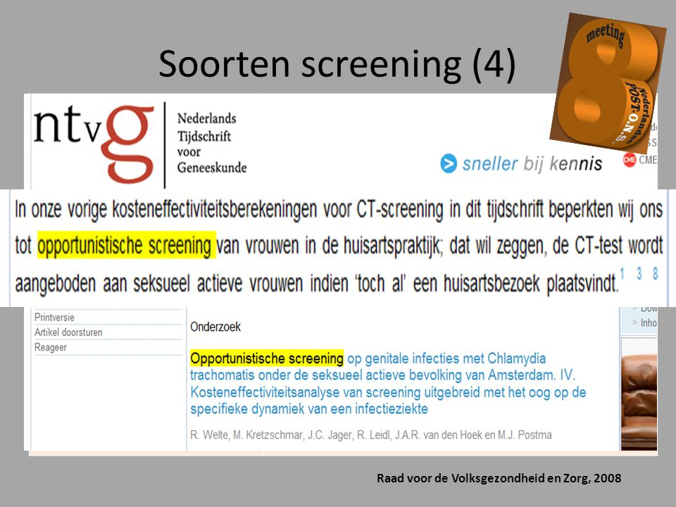 Soorten screening (4) Health checks