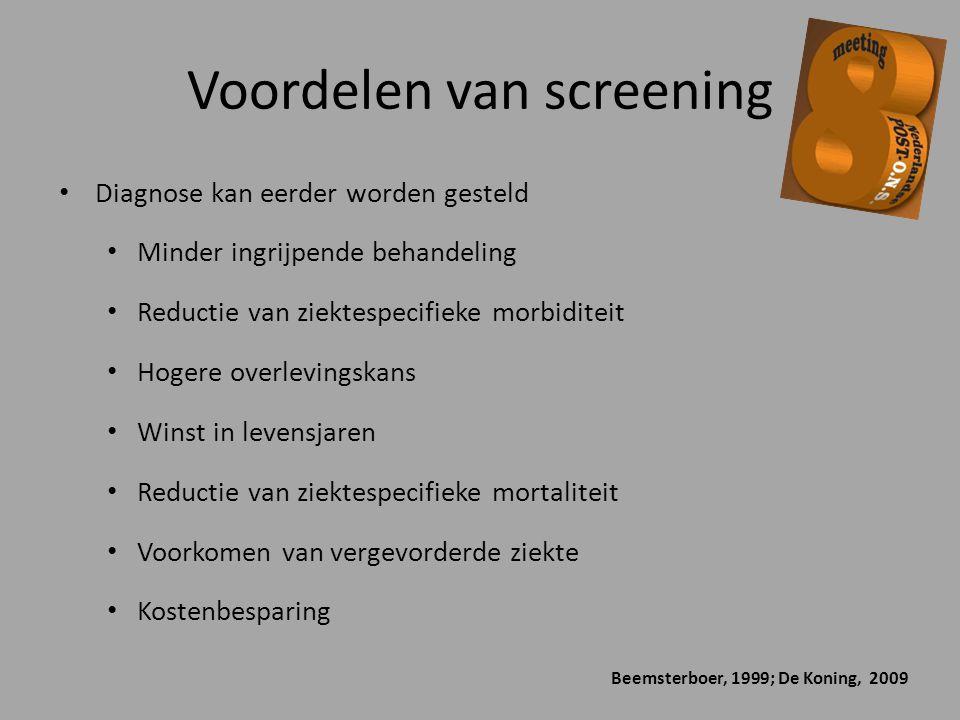 Voordelen van screening