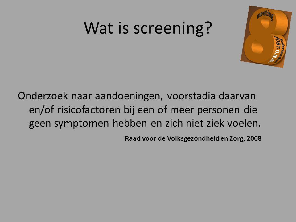 Wat is screening