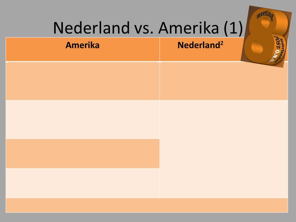 Nederland vs. Amerika (1)