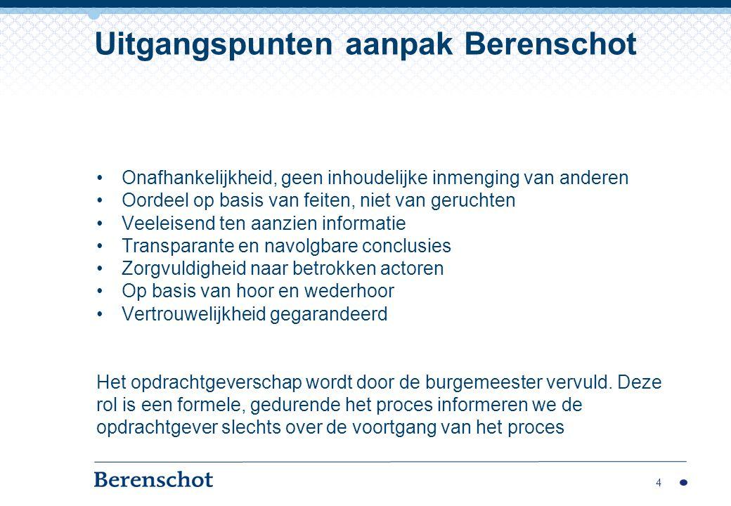 Uitgangspunten aanpak Berenschot