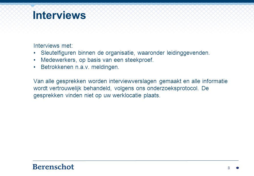 Interviews Interviews met: