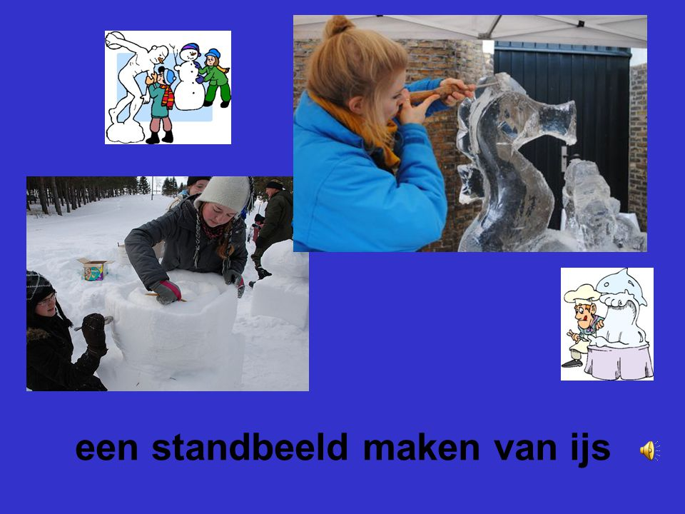 een standbeeld maken van ijs