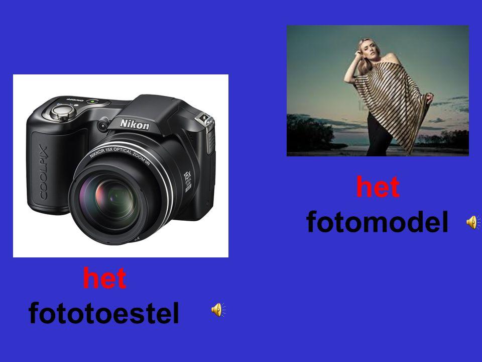 het fotomodel het fototoestel