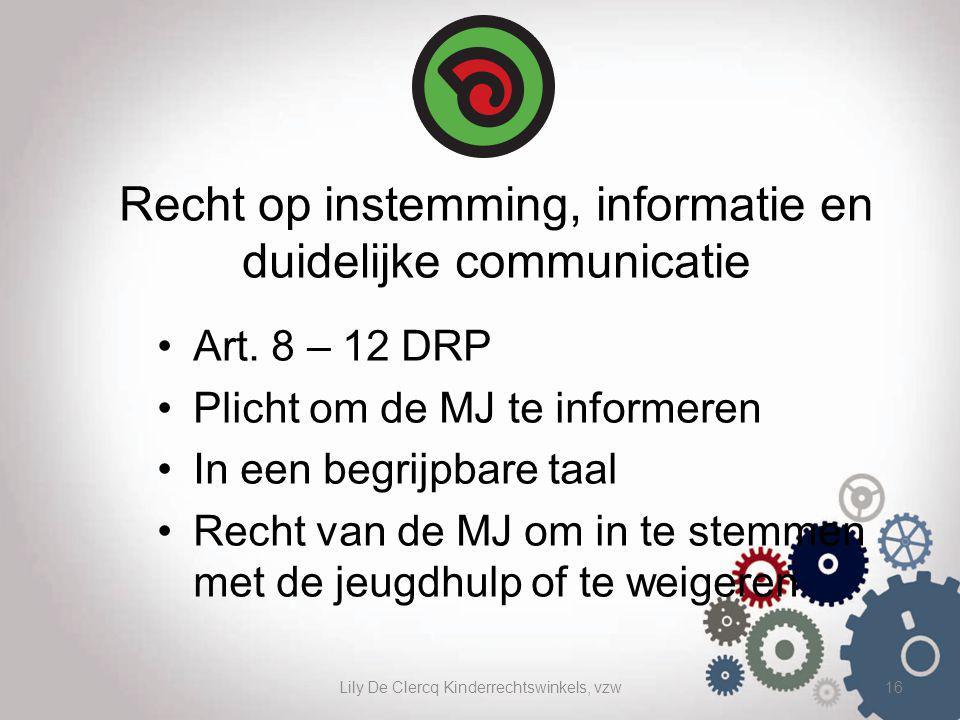 Recht op instemming, informatie en duidelijke communicatie
