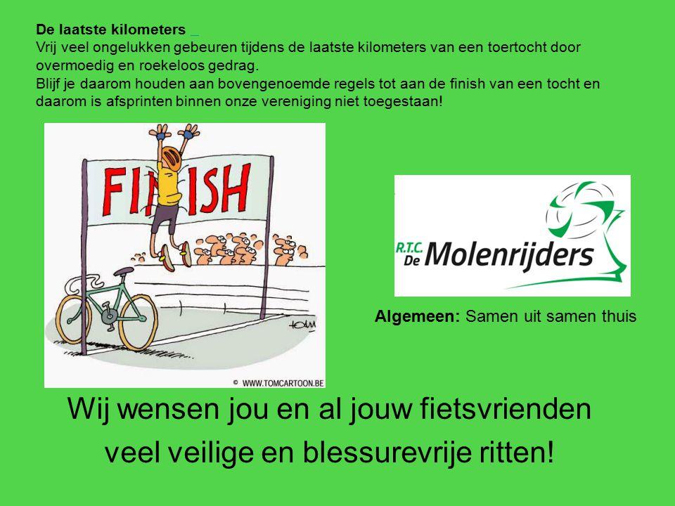 Wij wensen jou en al jouw fietsvrienden