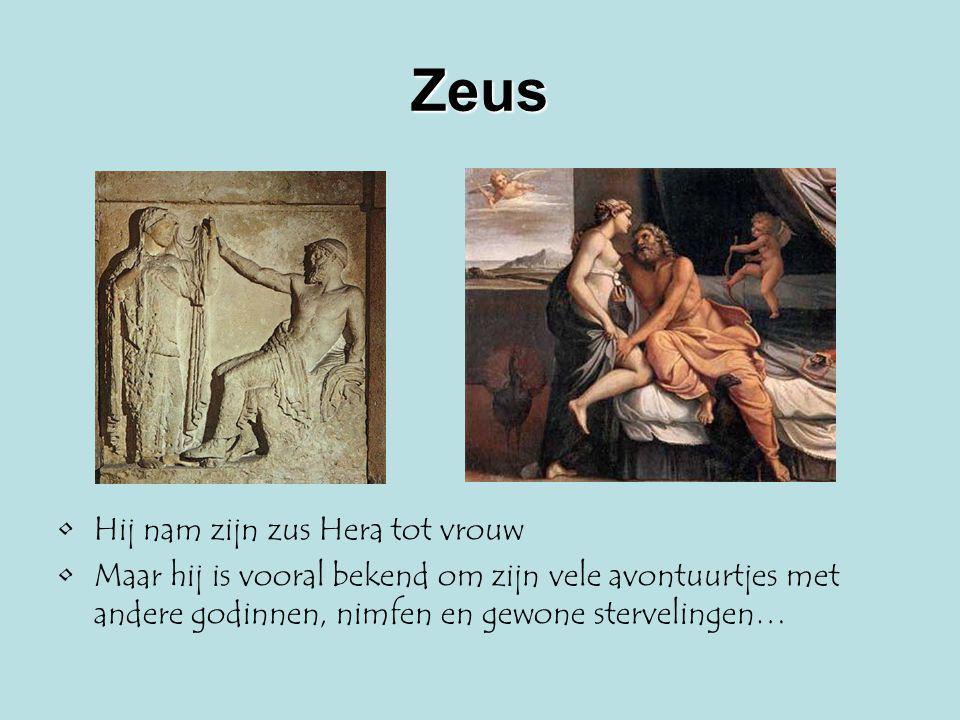 Zeus Hij nam zijn zus Hera tot vrouw