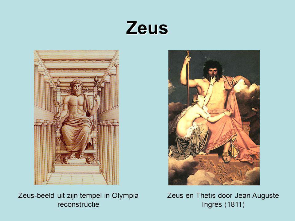 Zeus Zeus-beeld uit zijn tempel in Olympia reconstructie