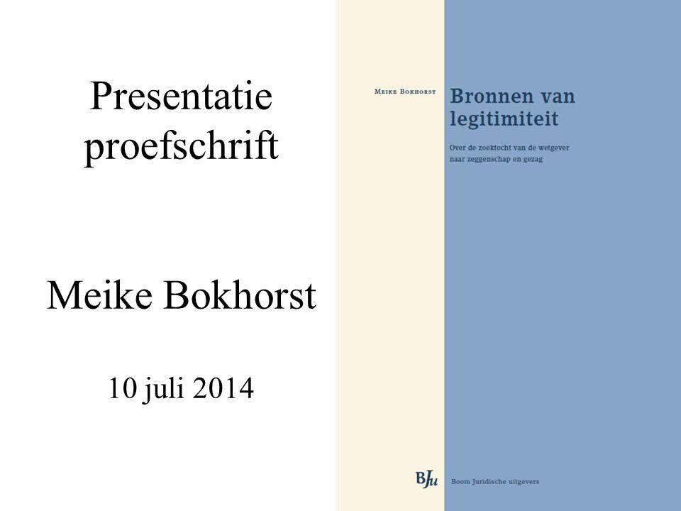 Presentatie proefschrift Meike Bokhorst 10 juli 2014