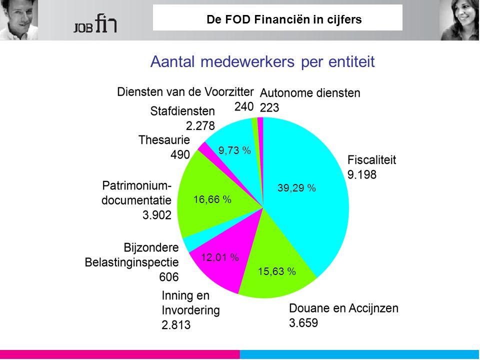 De FOD Financiën in cijfers