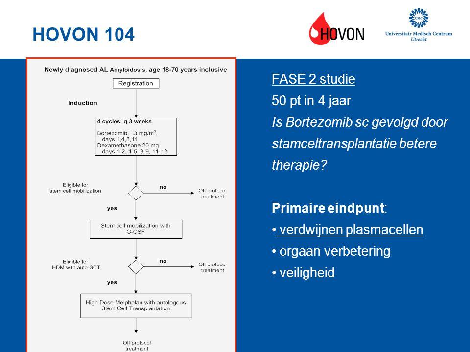 HOVON 104 FASE 2 studie 50 pt in 4 jaar