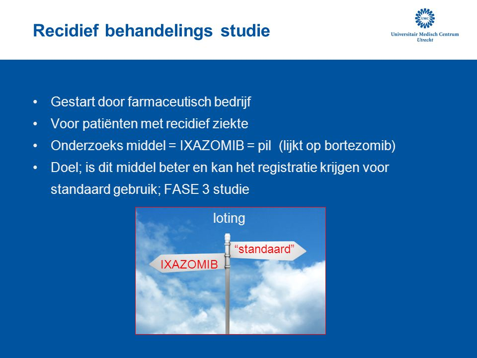 Recidief behandelings studie