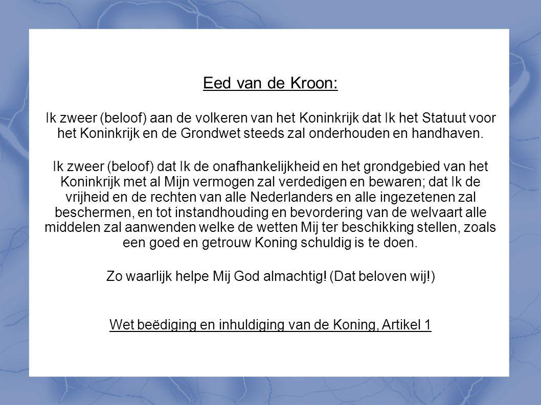 Eed van de Kroon: