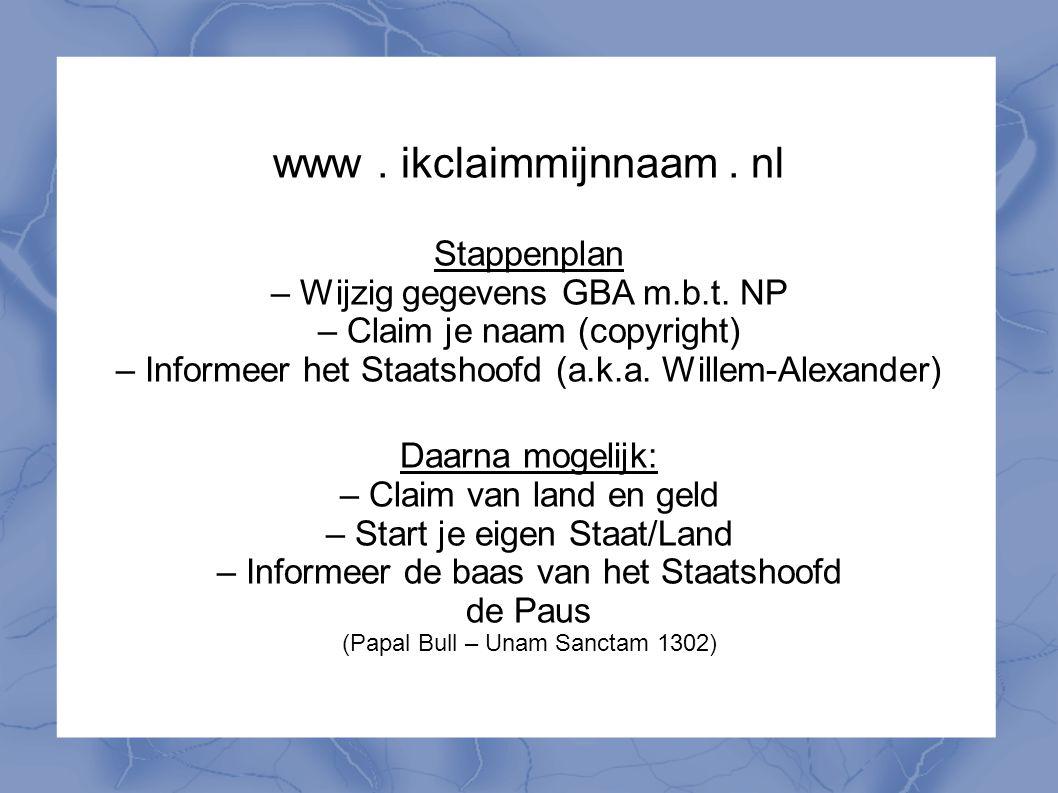 www . ikclaimmijnnaam . nl
