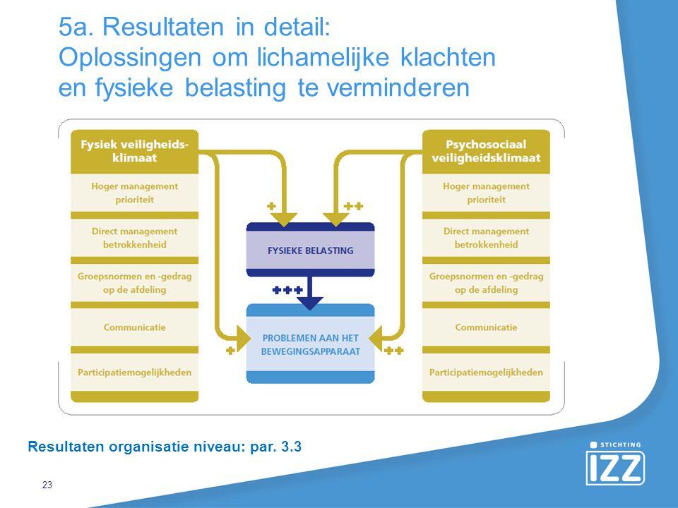 5a. Resultaten in detail: Oplossingen om lichamelijke klachten en fysieke belasting te verminderen