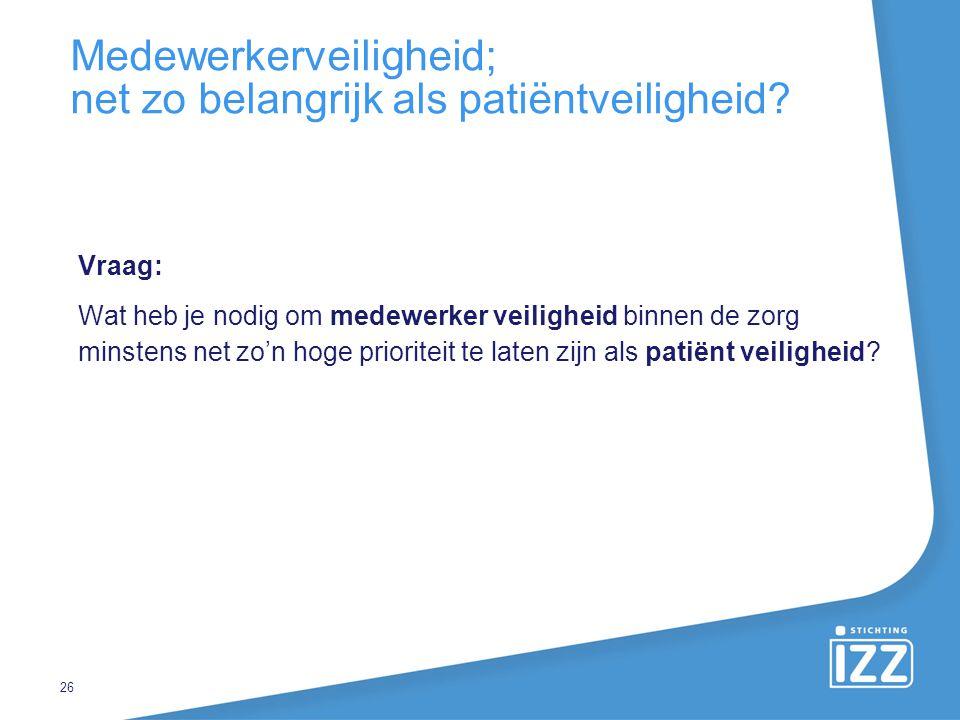 Medewerkerveiligheid; net zo belangrijk als patiëntveiligheid