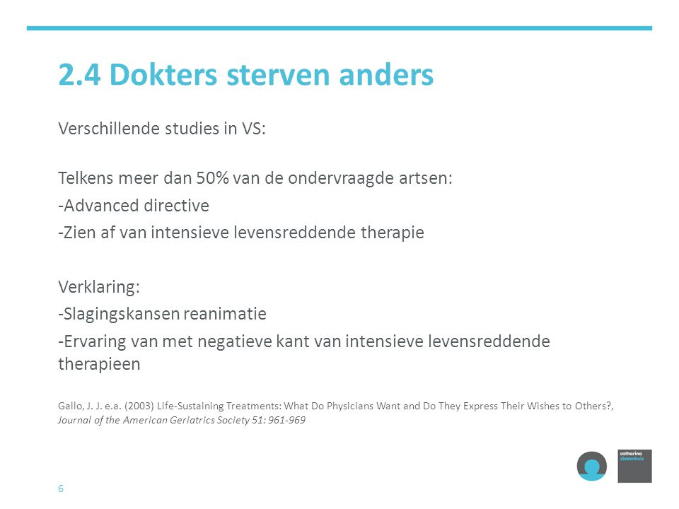 2.4 Dokters sterven anders