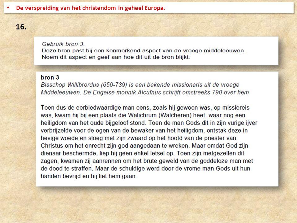 De verspreiding van het christendom in geheel Europa.