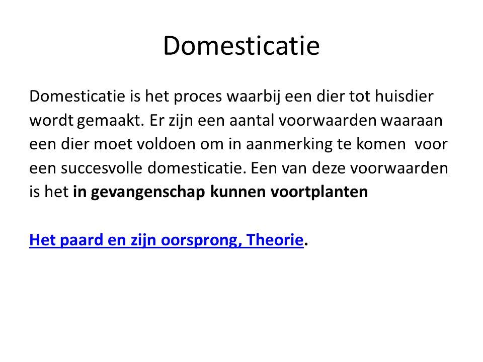 Domesticatie Domesticatie is het proces waarbij een dier tot huisdier