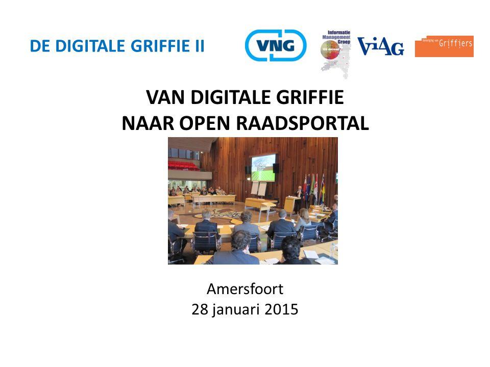 VAN DIGITALE GRIFFIE NAAR OPEN RAADSPORTAL De Digitale Griffie ii
