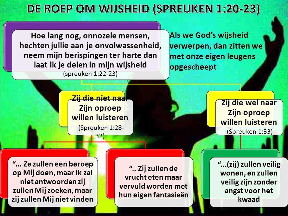 DE ROEP OM WIJSHEID (SPREUKEN 1:20-23)