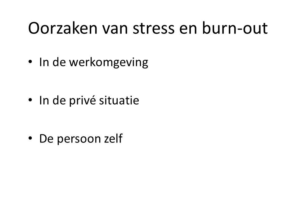 Oorzaken van stress en burn-out