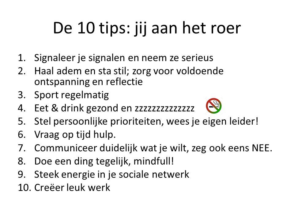 De 10 tips: jij aan het roer