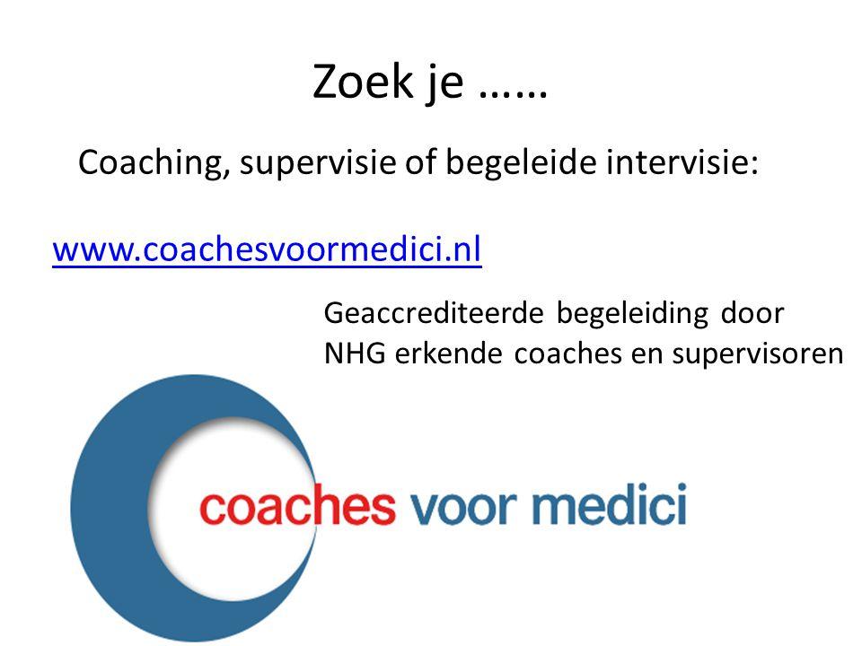 Zoek je …… Coaching, supervisie of begeleide intervisie: