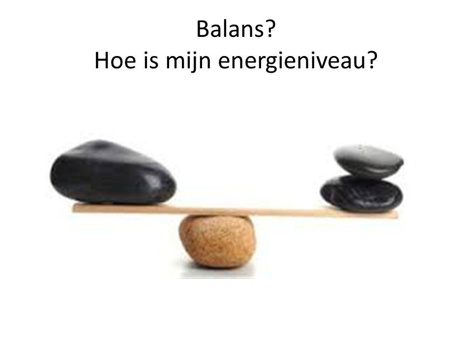 Balans Hoe is mijn energieniveau