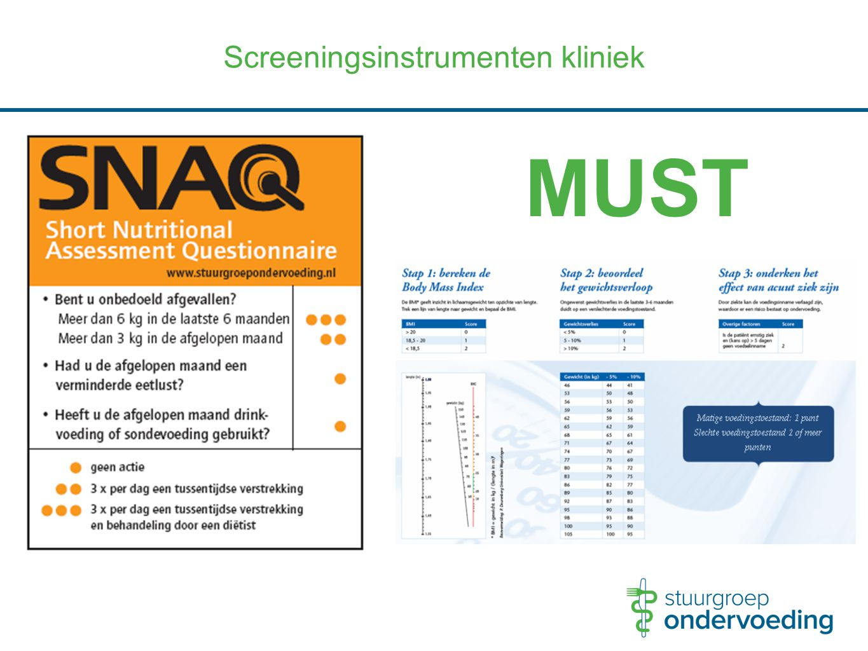 Screeningsinstrumenten kliniek