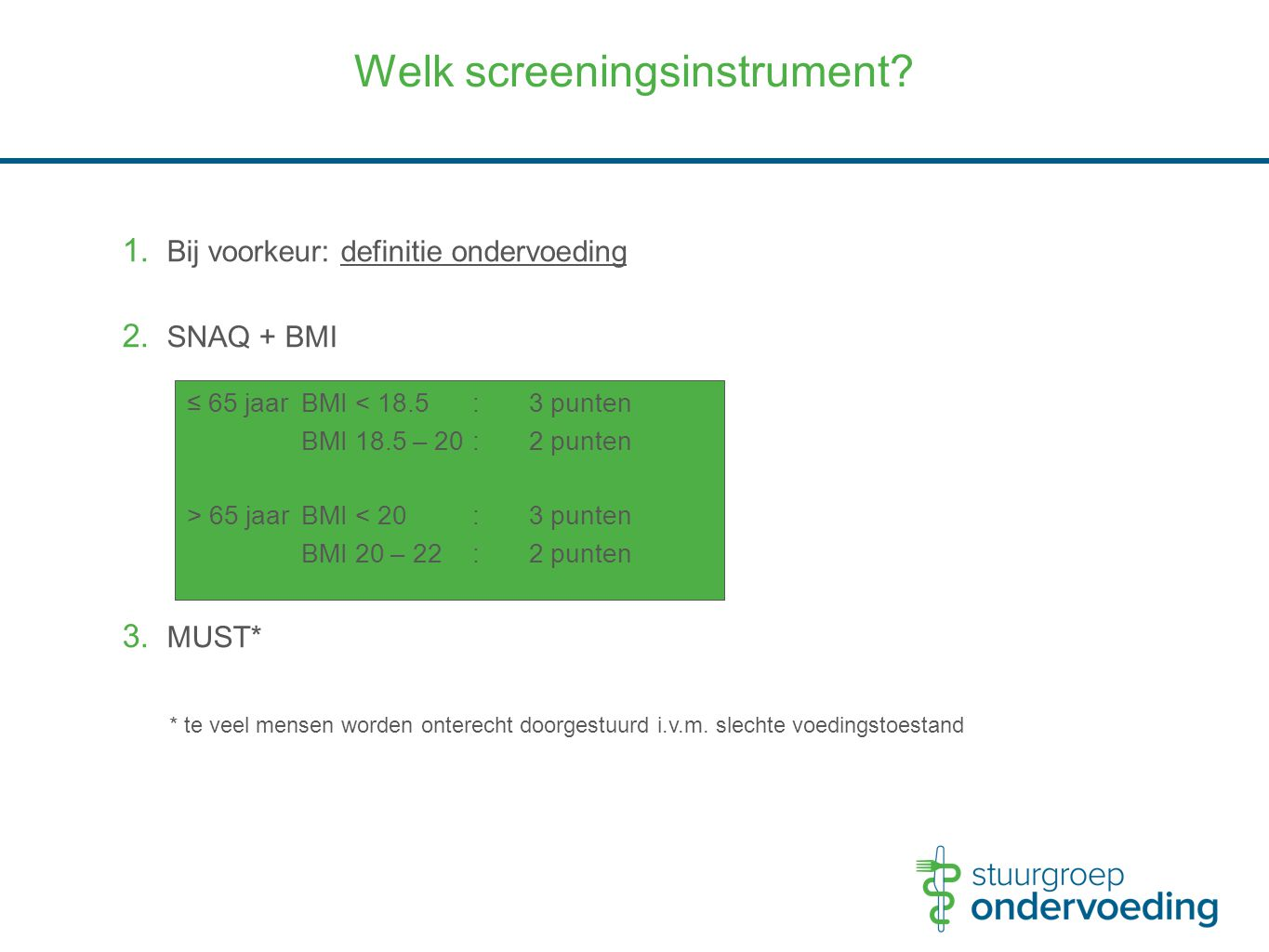 Welk screeningsinstrument