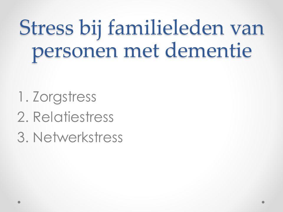 Stress bij familieleden van personen met dementie